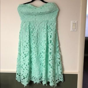 Strapless dress bust 18 waist 15.5 length 38-39